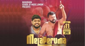 Artistes from Kerala and UK to set up first ever Chenda Melam fest on May 11 in London @ Harefield Academy, Harefield, Uxbridge UB9 6ET